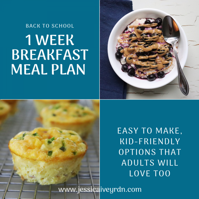 1-Week Breakfast Meal Plan